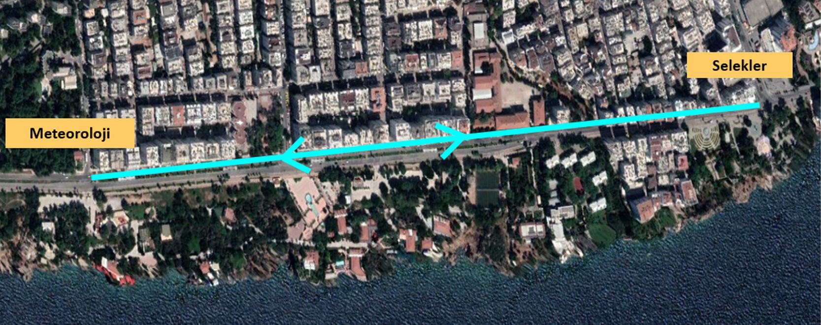 22 Eylül'de Konyaaltı Caddesi'nin Güney aksı trafiğe kapanacak