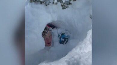 ABD'de karla mücadele… Küreme ekibinin üzerine çığ düştü