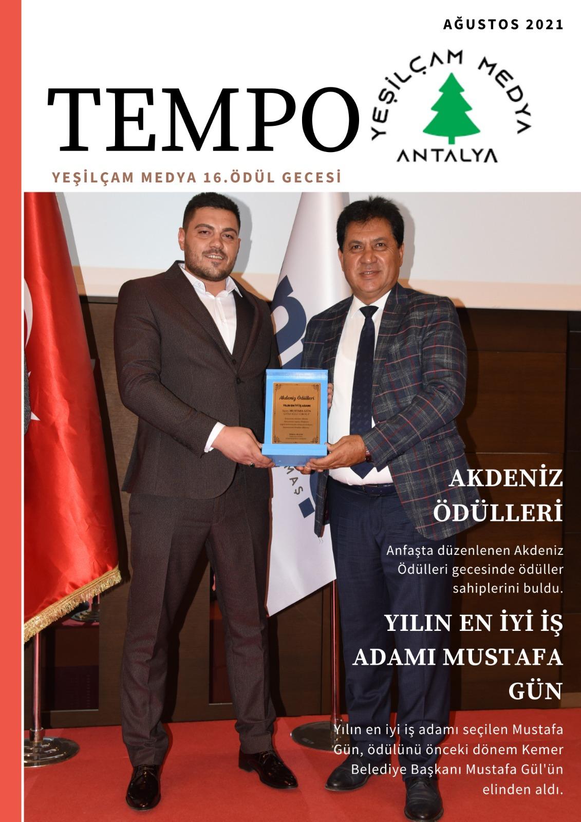 Akdeniz Ödülleri Gecesinde Yılın En İyi İş Adamı Ödülü Mustafa Gün'e Verildi