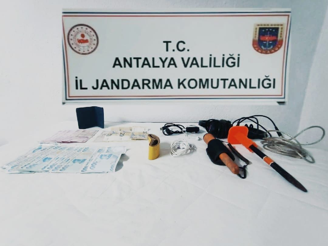 Akseki ilçesinde kaçak kazı yapan bir şüpheli yakalandı