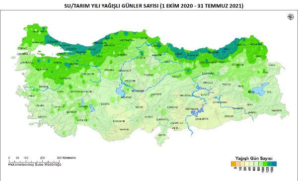 Antalya Meteoroloji Genel Müdürlüğü'nün temmuz ayı yağış raporu açıklandı