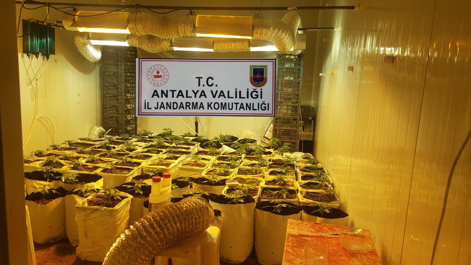 Antalya'nın Aksu İlçesinde Uyuşturucu Operasyonu