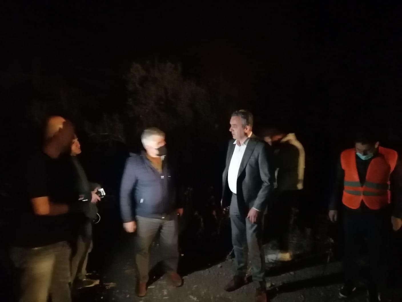 Başkan Esen, orman yangını bölgesinde
