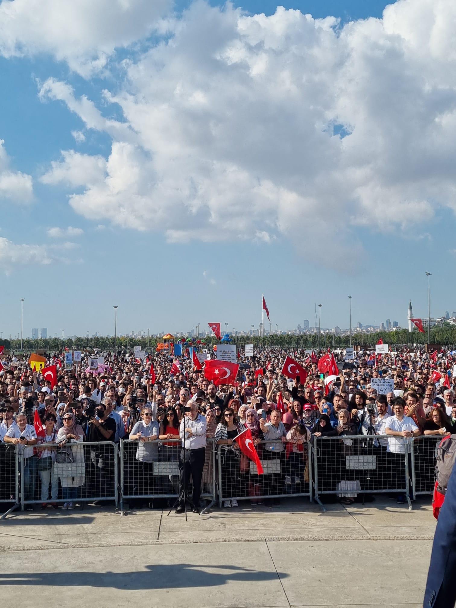 Bedri Yalçın'ın 11 Eylül'de Maltepe'de yapılan  Mitingle ilgili olarak  teşekkür mesajı