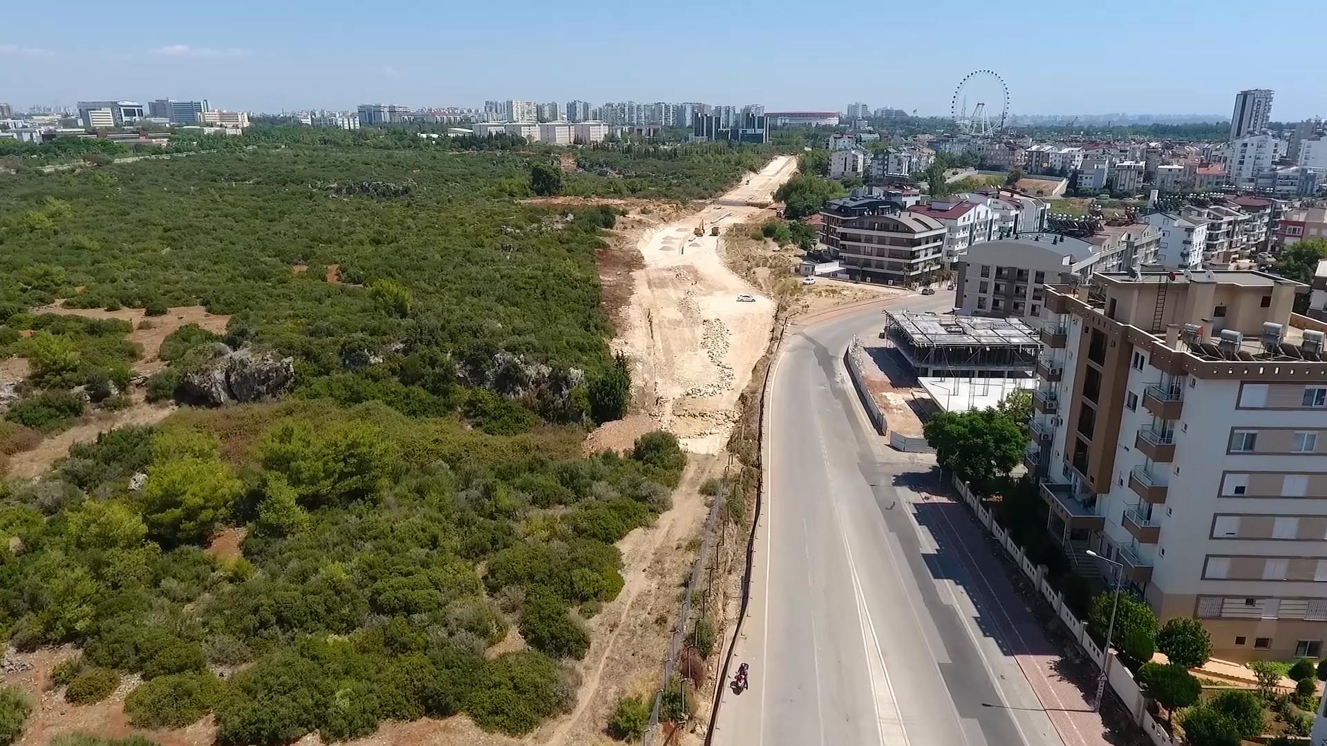 Büyükşehir'in Yaptığı Yeni yol Konyaaltı'nı rahatlatacak