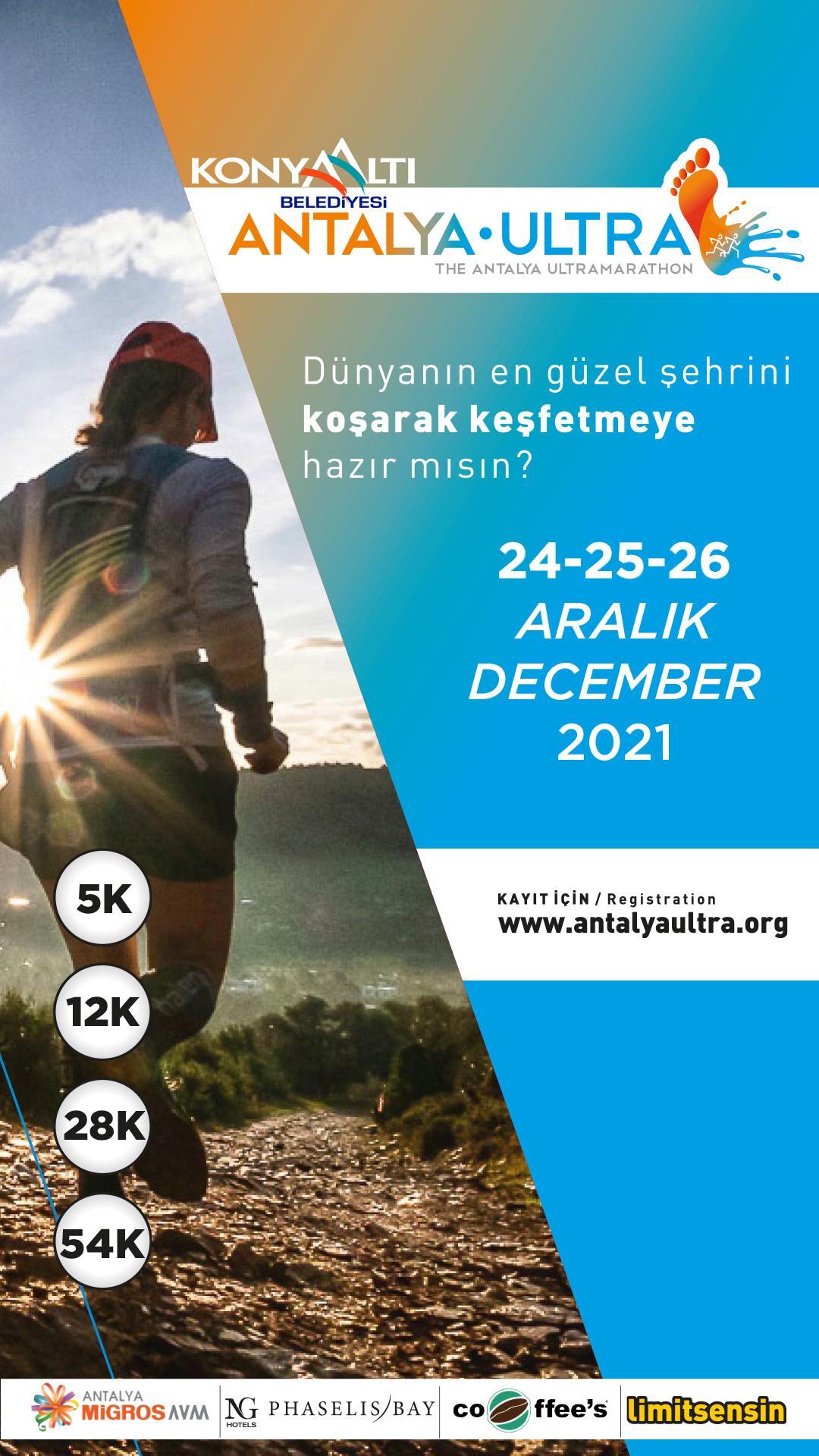 'Dünya'nın en güzel şehrini koşarak keşfetmeye hazır mısın' Konyaaltı Belediyesi Antalya Ultra Maratonu 24-25-26 Aralık'ta
