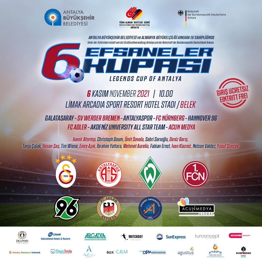 Futbolun efsaneleri Antalya'da buluşuyor