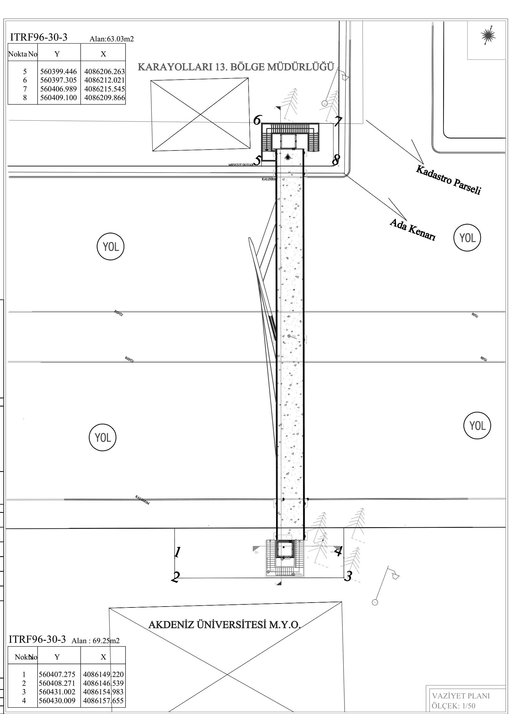 Gazi Bulvarı'na 51 metre uzunluğunda üst geçit
