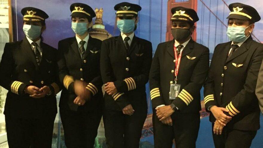 Hint pilotlar havacılık tarihine geçti: Tamamı kadınlardan oluşan ekipten en uzun uçuş
