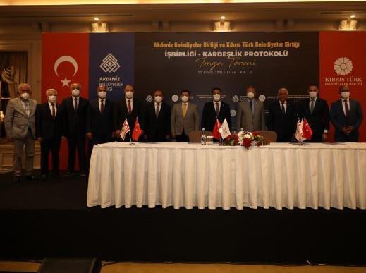 """Kıbrıs belediyeleri ile """"işbirliği-kardeşlik protokolü"""" imzalandı"""