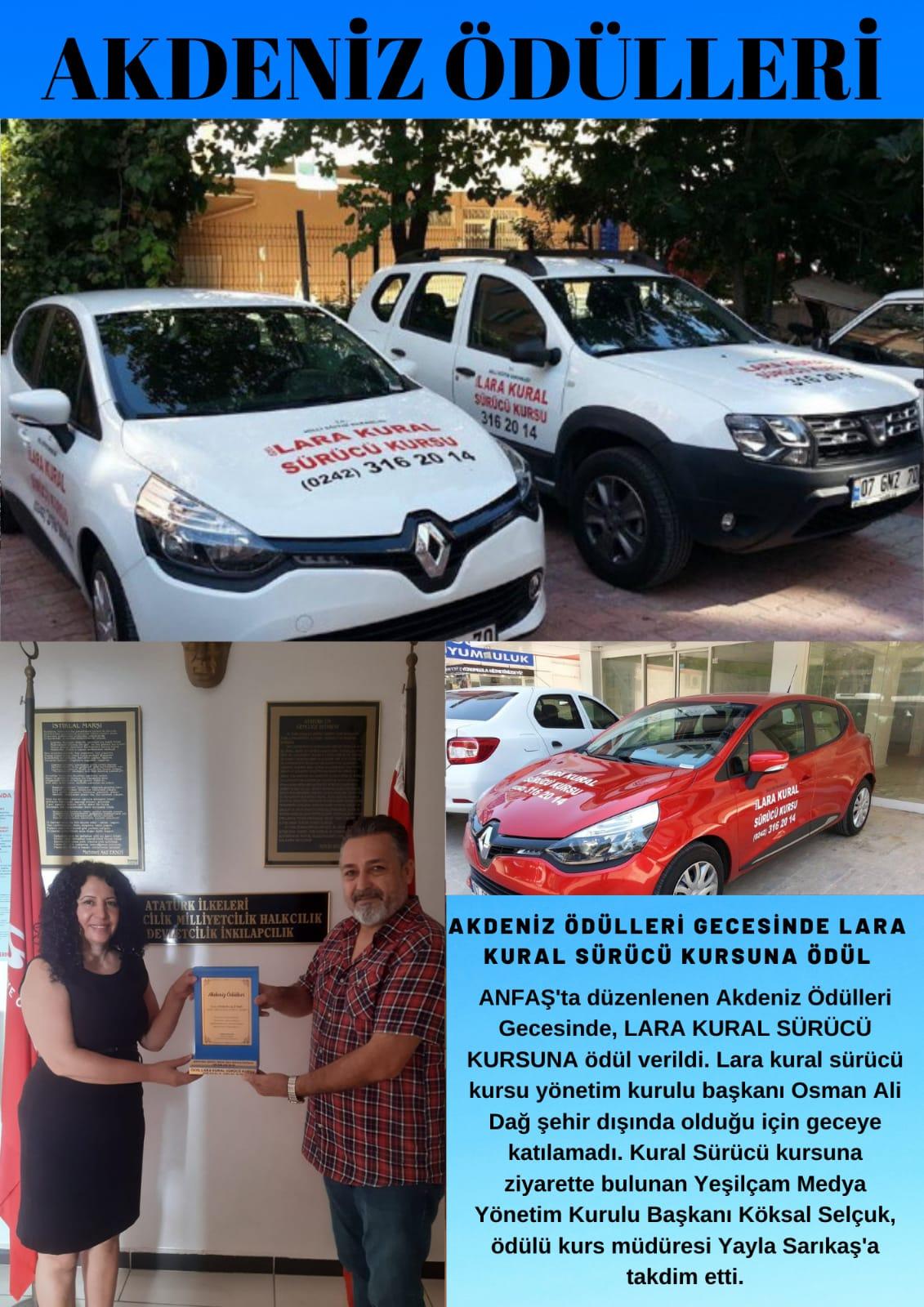 Özel Lara Kural sürücü kursuna ödül