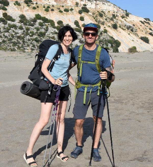 Ukraynalı çift iki ayda, ikinci kez Likya Yolu'nda
