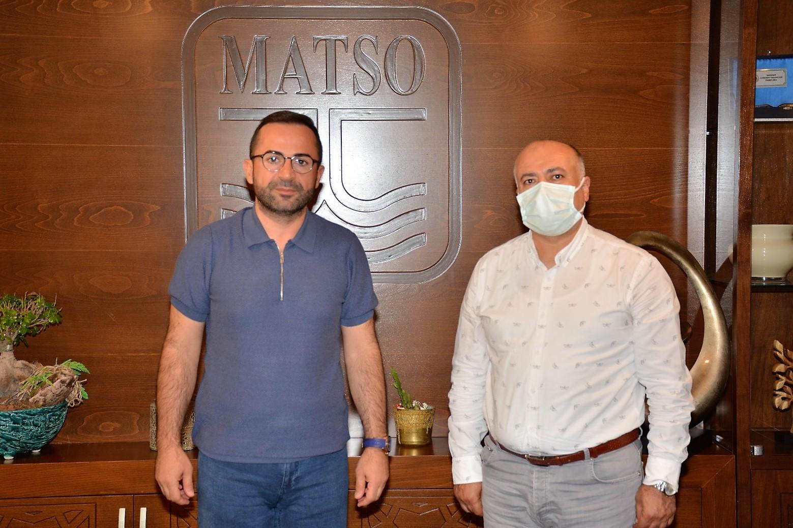 Yeminli Mali Müşavir Mesut Solkol, MATSO Başkanı Seydi Tahsin Güngör ile bir araya geldi.